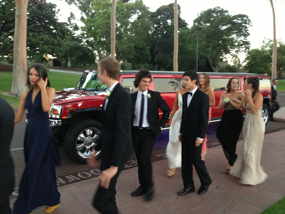 GGS Ball Red Hummer - Limousines Hire Perth